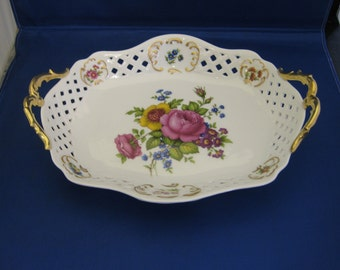 Hand Decorated 10 inch Dish
