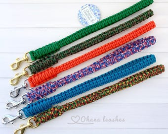 Traffic Leash, Traffic Handle, Short Leash, Traffic Lead, Paracord Dog Leash, City Leash, Dog Leash