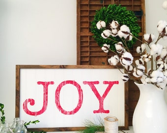 Christmas in July, Rustic JOY sign - Farmhouse Christmas Sign - Vintage Farmhouse - Large JOY Sign - Christmas Decor - Rustic Christmas Sign