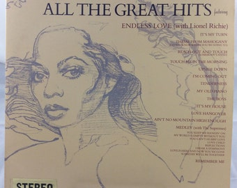 Diana Ross - All The Great Hits LP vinyl record - 1981 Motown Records - Gatefold cover