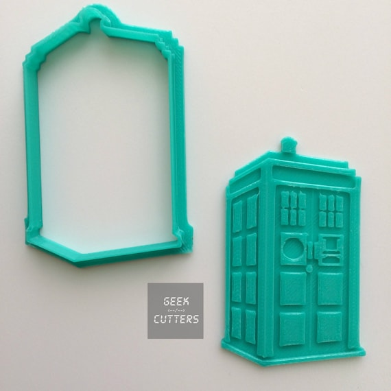 Doctor Who - Tardis Cookie Cutter - Fondant, Backing Mold, 3d printed, Cookiecutter, Ghost Busters