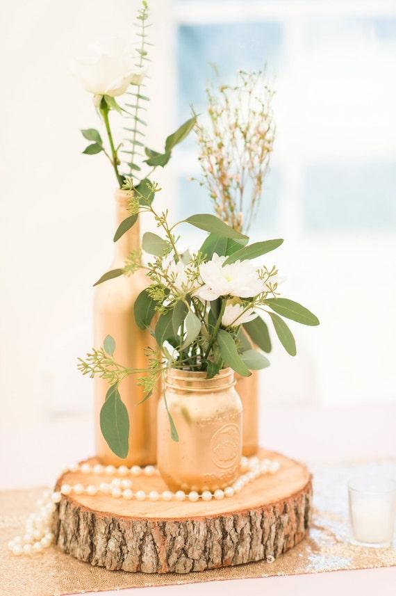 Items similar to wood slices centerpiece rustin wedding