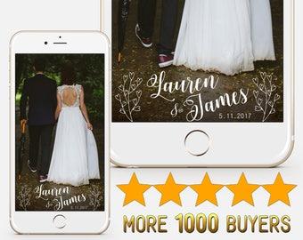 Snapchat Geofilter Custom Wedding Snapchat filter Personalied wedding geofilter Bridal shower geofilter Wedding geofilter S35