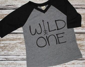Boys Wild One Shirt, Wild One Birthday Shirt, Wild and One, Tribal Birthday, First Birthday Boy, One Shirt