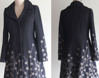 Gorgeous Vintage Lu Lu Via Embroidered Fitted Coat Size 6