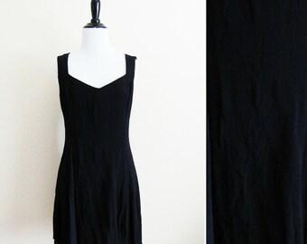 Vintage Little Black Dress Scott McClintock Criss Cross Black Mini Dress 90s Mini Dress 1990s Grunge Style Black Dress Womens Size Large