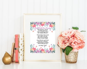 Walk With Me Mommy Poem, Gift for Mom, Gift from Baby, Gift from Child, Mother Poem, New Mom Gift, Personalized, Digital Download, Printable