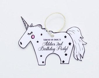 Unicorn Thank you tag, Birthday Thank you Tag, Unicorn Birthday Decorations, Unicorn Party decorations,  Favour Bag Tags, Printable Unicorn