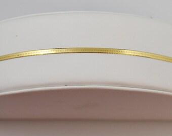 "14K Aurafin 7"" Yellow Gold Herringbone Bracelet 1.40 Grams"