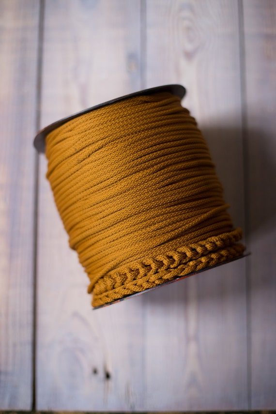 GOLDENROD rope cord, chunky yarn, colored rope, MACRAME CORD, craft supplies, diy projects, rope yarn, polyester cord, rope cord. #53
