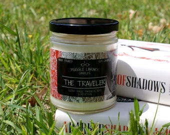 The Traveler - inspired by A Darker Shade of Magic - hand poured soy candle - 9oz glass jar