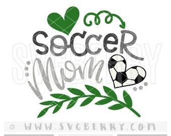 Soccer Mom SVG / soccer mom shirt soccer mama / soccer ball svg / soccer gifts / soccer shirt /  ball heart / cutting files iron on decal/Bh