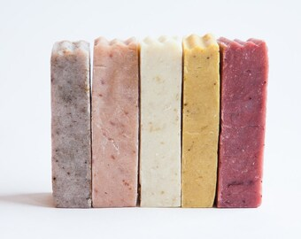 Soap samples. Soap sampler gift set of 6 handmade, all natural, organic soap bars. Sample soap pack. Guest soaps. Travel soaps. Vegan gifts