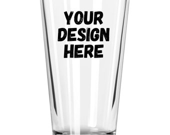 Custom Etched Drinking Glass