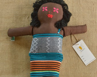 Dolls Brown Doll Black Doll | Handwoven Brown Black Doll | Handmade Embroidery Ethnic Doll | FREE SHIPPING