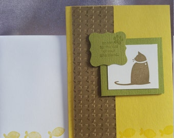 Stampin Up! Handmade Cat Sympathy Card