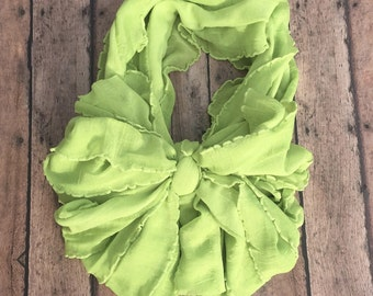 Lime messy bow