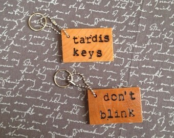 Dr. Who Quotes Keychain Wood Keychain Dr. Who Gift TV Show