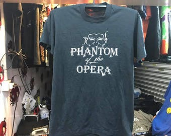 Vintage Phantom Of The Opera Shirt Size L Free Shipping 90s Boardway Shirt 50 Cotton Made In Usa Andrew Lloyd Webber