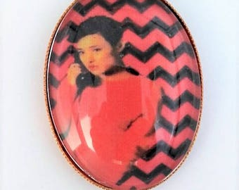Josie Twin Peaks hand embroidered brooch