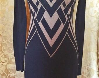 Art Deco Style Sweater Dress *ON SALE*
