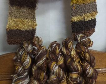 Yarn Skein, Knitting Yarn, Multi- color yarn, Hand-dyed yarn, Wool yarn, Merino, Mixed yarn, Twisted yarn, Novelty, Brown yarn, 450-475+ yds