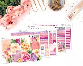 Flowers In Bloom Vertical Planner Kit || for use with ERIN CONDREN LIFEPLANNER™.