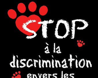Sticker vinyl support to the pitbulls: STOP discrimination!