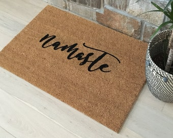 Namaste Doormat - Namaste Door Mats, Yoga Lover Gifts, Yoga, Gifts for Sister, Gifts for Mom, Gifts for Girlfriend