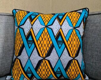 Ankara Print Cushion Cover / African Print Cushion Cover / African Pillow / African Cushion