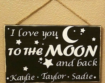 Love You To The Moon & Back Wall Decor