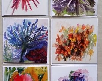 Art Cards Flower Large Set of 10