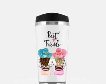Gift, Personalized Best Friend Gift, Travel mug Best Friend Gift, Mothers day gift, Friendship gift, Unique Friendship Gift,