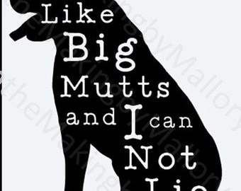 "Vinyl Decal ""Big Mutts"""