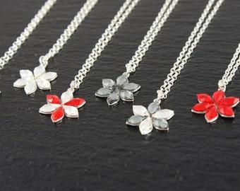 925 Silver chain with Swarovski flower, flower girl, chain, Dirndl, bridesmaids, wedding, Bridal, Bridal jewelry