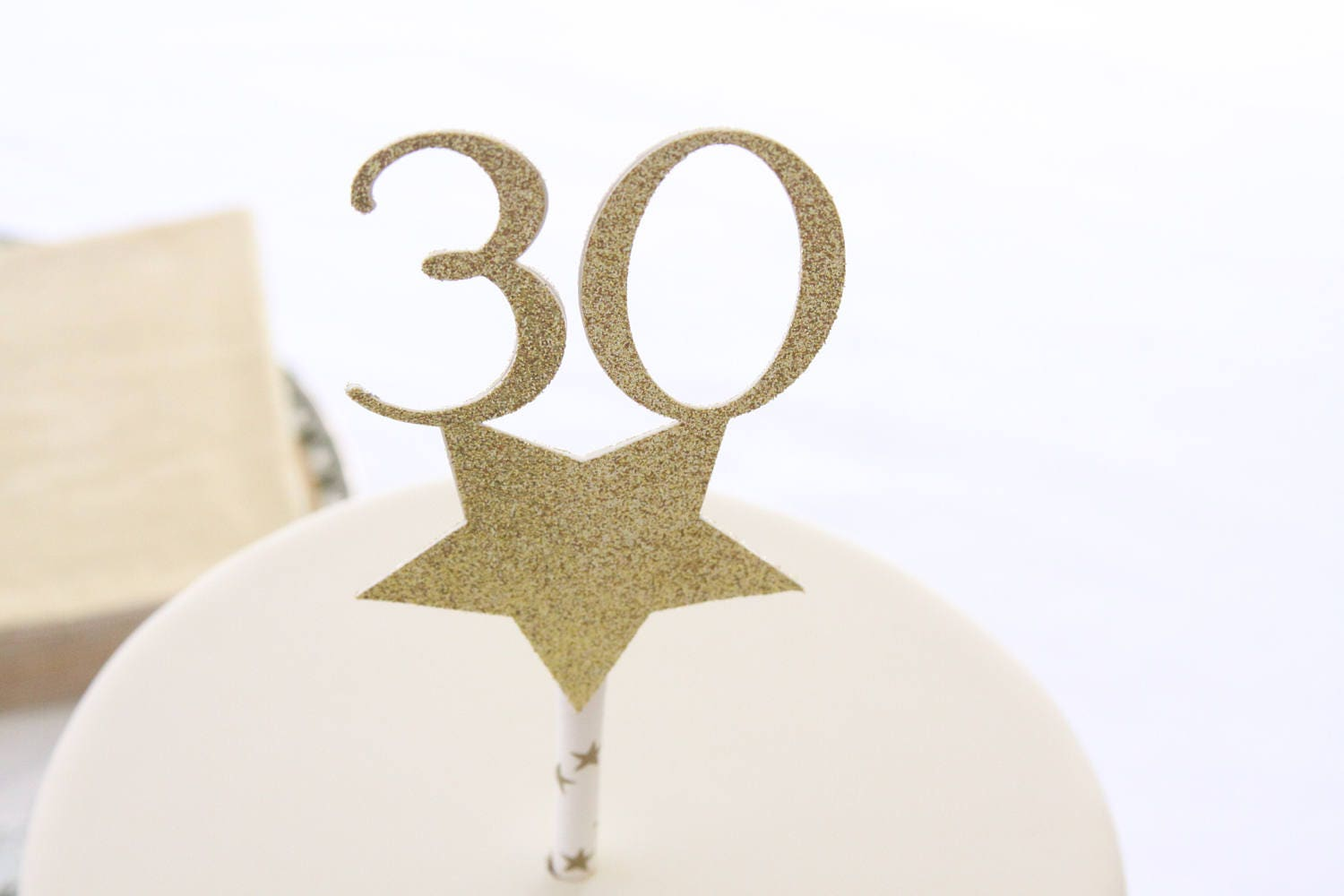30th Anniversary Decorations Happy 30th Birthday Cake Topper Talk Thirty To Me Glitter Cake
