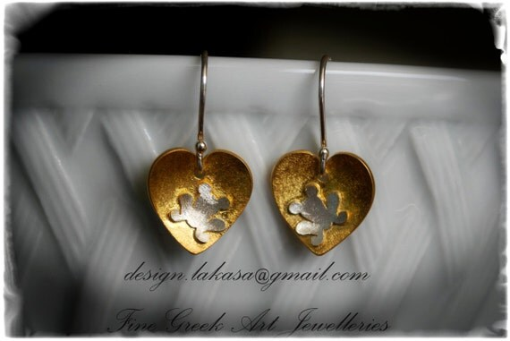 Frog Heart Earrings Silver 925 Gold-plated Lakasa e-shop Jewelry Kiss your Frog Prince My Little Princess Gifts for her birthday best ideas