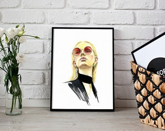 fashion print, Elie Saab art, fashion portrait - 3 sizes available giclee print