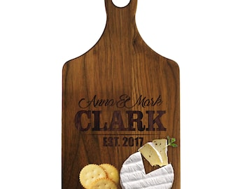 Custom Cheese Board, Personalized Cutting Board, Maple Cutting Board, Wedding Gifts for Couples, Cheese Board Personalized, Walnut Board