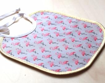 Coated fabric Flamingo bib