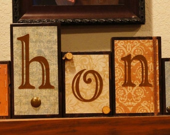 Custom Made Wooden Block Letters