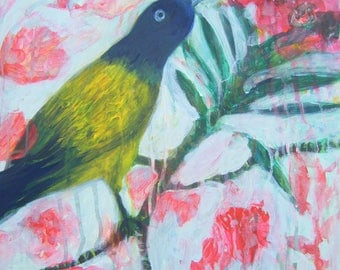 Enchantement -Enchantment - Original Painting Bird