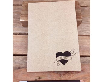 Coffee Eco Notebook, Jotter, Sketchbook, Journal A5