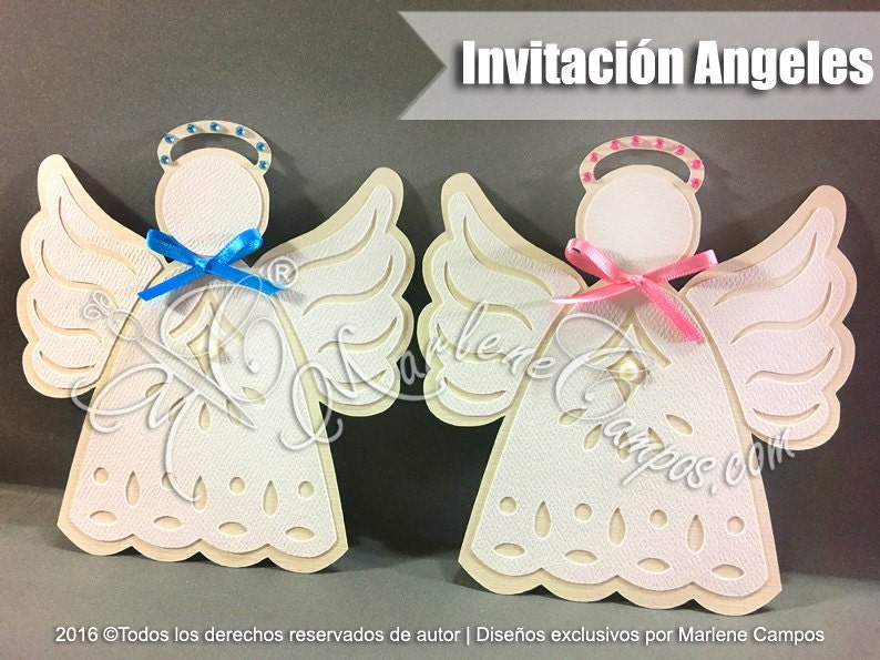 Angel invitation Baptism Invitation for boy Christening