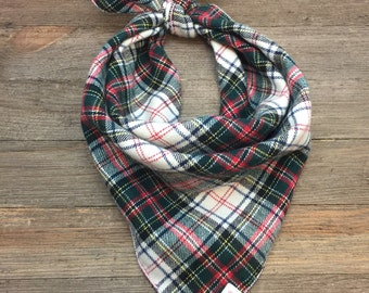 Plaid Dog Bandana - Buddy, Plaid Dog Bandana, Dog Bandana, Pet Bandana, Flannel Bandana, christmas dog bandana, Christmas Bandana