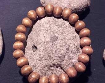 Bracelet beads wood coffee color
