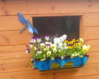Stained Glass Flower Window Box