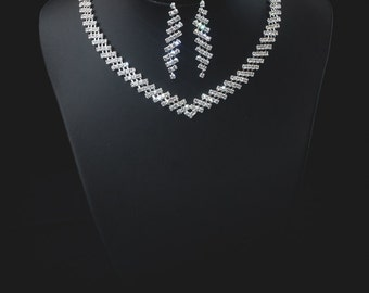 "Set ""Roksolana"",Rhinestone Jewelry Set, Crystal Wedding Necklace Set, bridal jewelry set, wedding jewelry set, bridesmaid jewelry set."