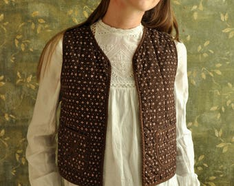 Cotton quilted lady's vest