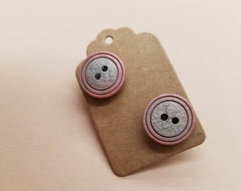 Handmade Button Earrings 29